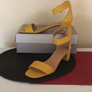 Franco Sarto Yellow Sandals